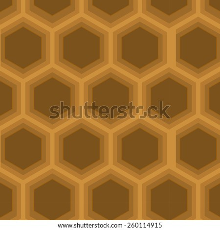 A hexagon shaped continuous vector pattern. - stock vector