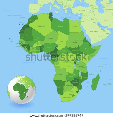 African Map Stock Images RoyaltyFree Images Vectors Shutterstock - African map