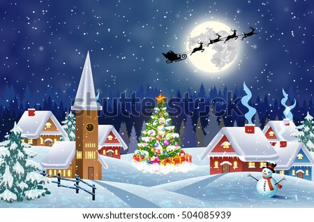 Christmas Scene Stock Images, Royalty-Free Images & Vectors ...