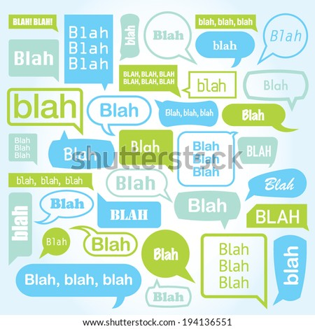 A huge collection of different style vector text message bubbles. Representing the socially overactive youth of today. - stock vector