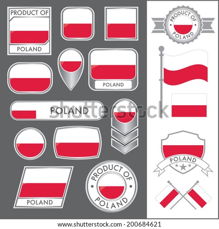 A huge vector collection of Polish flags in multiple different styles. In total there are 17 unique treatments that will be useful for a variety of applications.