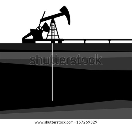 A illustration of oil pump - stock vector