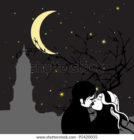 A kiss in the moonlight
