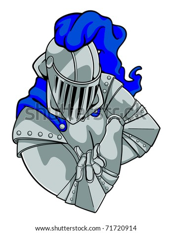 A knight crossing his arms. - stock vector