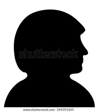 a lady with scarf head silhouette vector