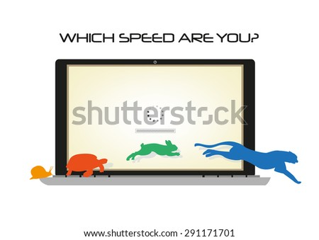 ... in front of it with sample texts. Editable Clip Art. - stock vector