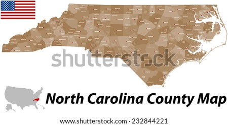 North Carolina Map Stock Images RoyaltyFree Images Vectors - Map of north carolina with cities