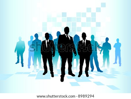 A large group of team players. - stock vector