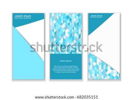 Leaflet Template Abstract Dynamic Background Design Stock Vector