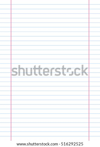 A4 Line Paper. Vector, Illustration of A4 Line Paper Sheet.