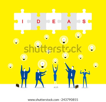 A lot of ideas Brainstorming - stock vector
