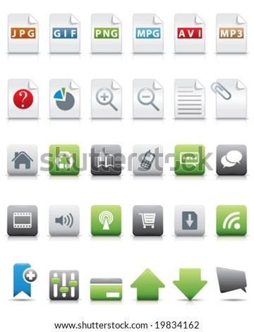 a lot of vector internet icons
