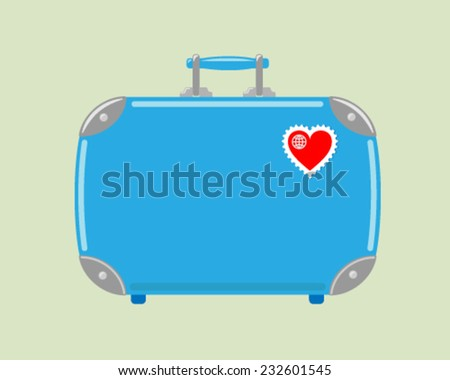 A love for travel. - stock vector