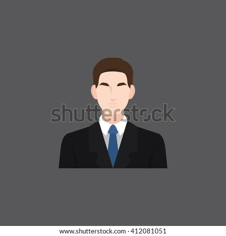A male avatar of professions people. Flat style icons. Occupation avatar. Business man icon. Vector illustration - stock vector