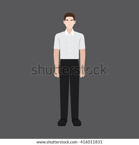 A male avatar of professions people. Front view. Full body. Flat style icons. Occupation avatar. Business man / employee icon. Vector illustration - stock vector