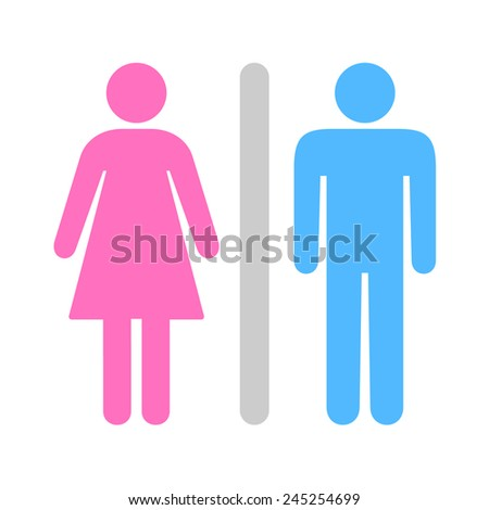 A Man and a Lady Toilet icon great for any use. Vector EPS10. - stock vector