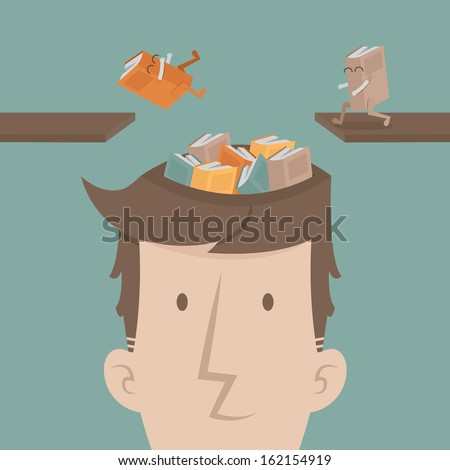 A man fill knowledge , eps10 vector format - stock vector