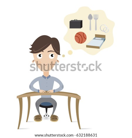 Man whos thinking about his future stock vector 632188631 shutterstock a man whos thinking about his future and dreams altavistaventures Image collections
