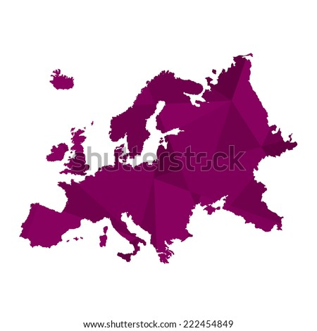 A Map of the continent of Europe - stock vector