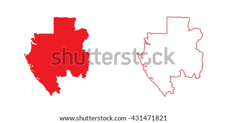 A Map of the country of Gabon - stock vector