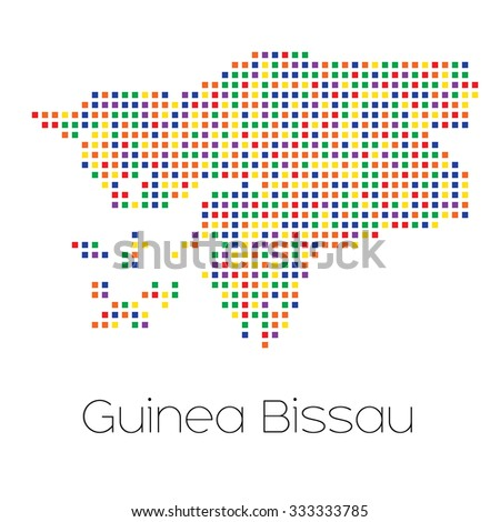 A Map of the country of Guinea Bissau