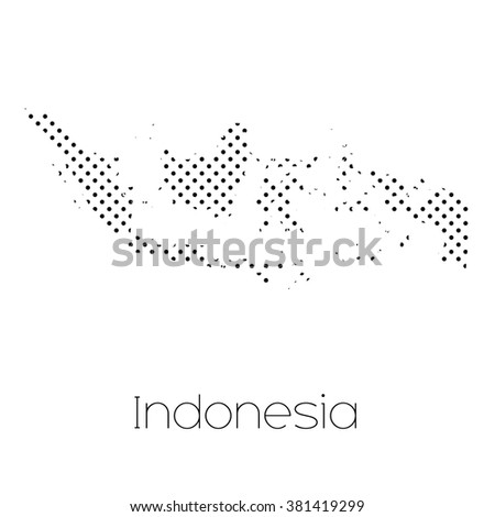 A Map of the country of Indonesia - stock vector