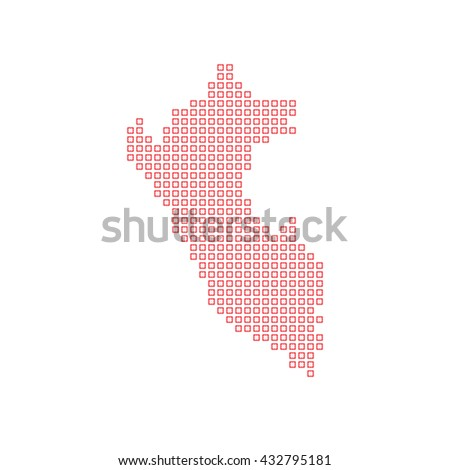 A Map of the country of Peru - stock vector