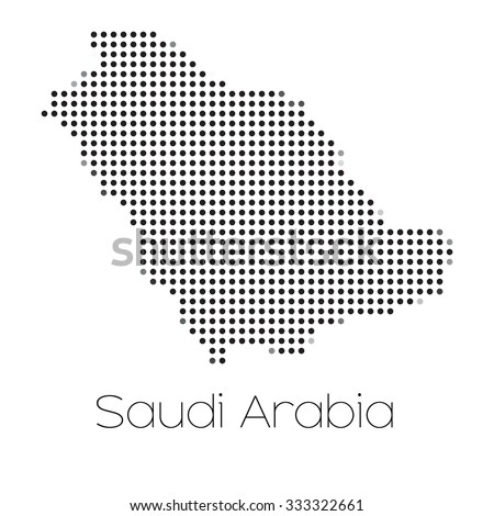 A Map of the country of Saudi Arabia