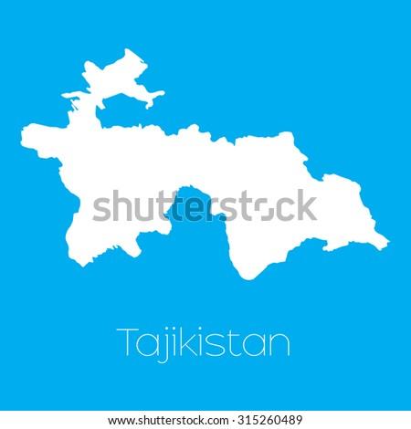 Tajikistan Map Vector Stock Images RoyaltyFree Images Vectors - Tajikistan map vector