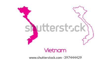 A Map of the country of Vietnam - stock vector