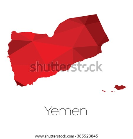 A Map of the country of Yemen - stock vector