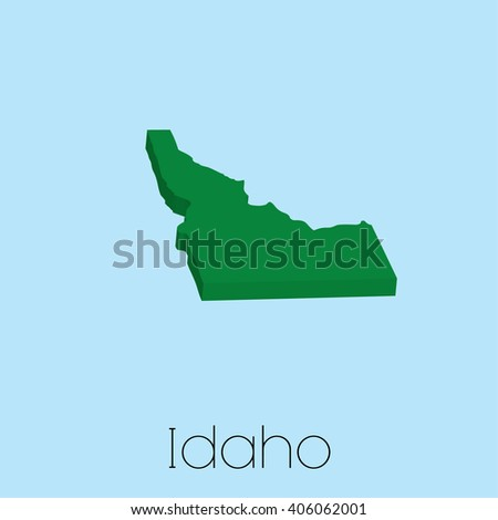 A Map of the the state Idaho - stock vector