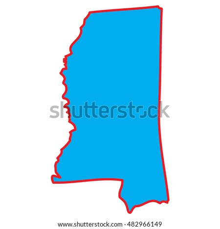 A Map of the the state  Mississippi