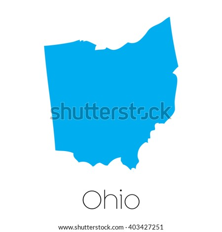 A Map of the the state Ohio
