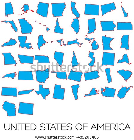 A Map of the the states in Red and Blue