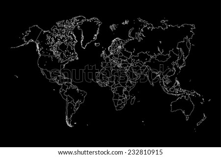 A Map of the world with a selected country of Gambia - stock vector