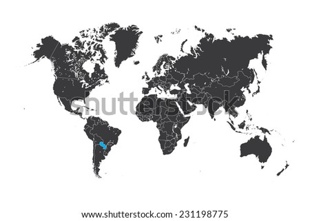 Paraguay Map Stock Images RoyaltyFree Images Vectors - Map of paraguay world