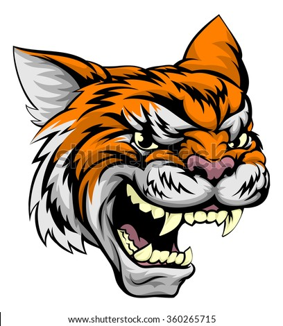 A mean looking tiger sports mascot animal - stock vector
