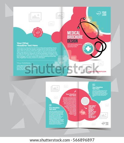 A Medical Brochure Layout Template Design Stock Vector