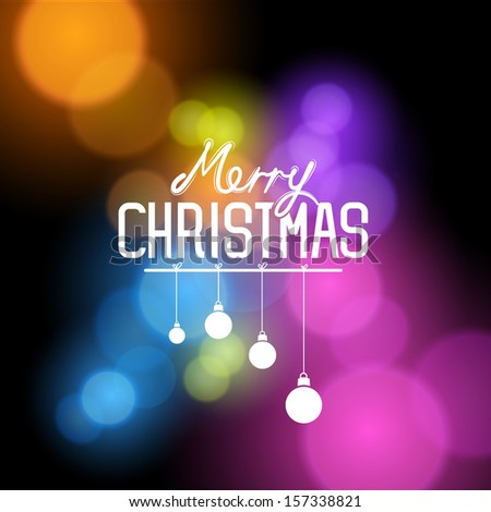 A merry christmas greeting background with christmas message. Vector Illustration. - stock vector