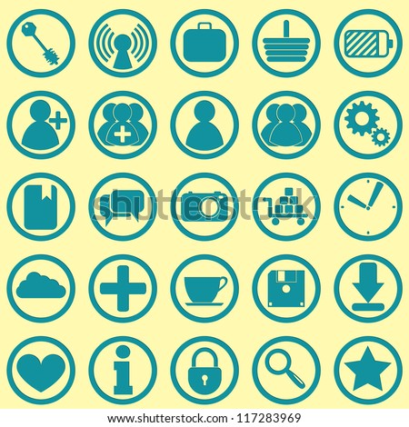a modern set of 25 eps10 icons for web design - stock vector