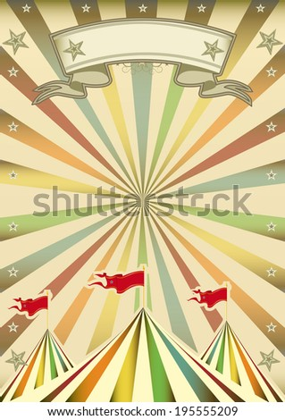 A multicolor circus background with sunbeams for you - stock vector