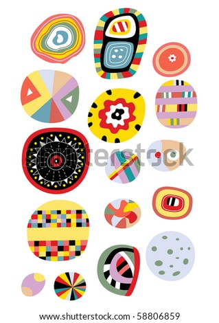A multitude of isolated abstract elements. - stock vector