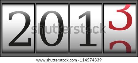 A new year 2013 counter. Vector - stock vector
