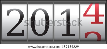 A new year 2014 counter. Vector illustration - stock vector