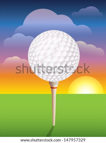 A nice design background for a golf tournament invitation, flyer, brochure, and more. Vector EPS 10 contains transparencies and mask. EPS is layered for easy addition and subtraction of elements. - stock vector