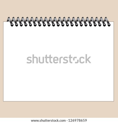 A Notebook paper sheet