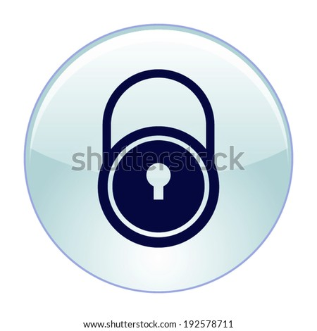 A padlock isolated against- Vector icon - stock vector