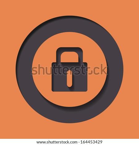 A padlock | lock icon - stock vector