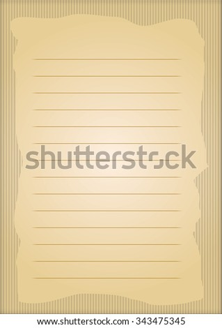 A page of notepad with abstract decorative frame - stock vector